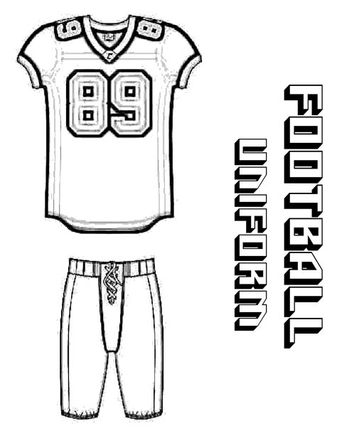 printable football jersey template football jerseys