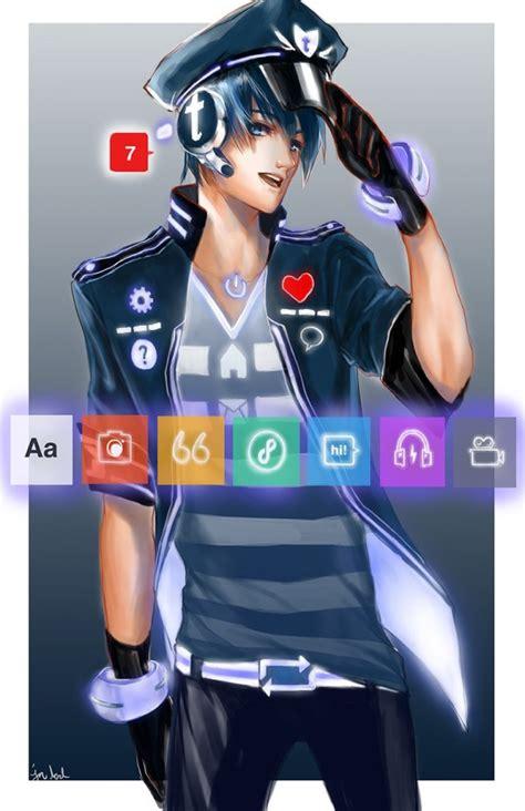 si鑒es sociaux et si les réseaux sociaux étaient représentés par des personnages de mangas nerdpix