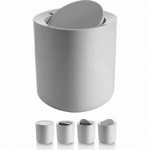 Alessi birillo modern white bathroom waste bin with lid for Bathroom wastebasket with lid