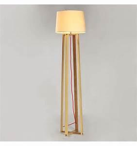 Abat Jour Design : grand lampadaire stable design en bois avec abat jour en ~ Melissatoandfro.com Idées de Décoration