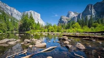 Yosemite National Summer California Northern Valley End