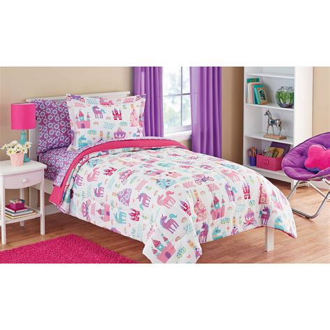 mainstays kids pretty princess bed   bag bedding set