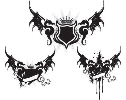 dragon wings tattoo vector art ai svg eps vector