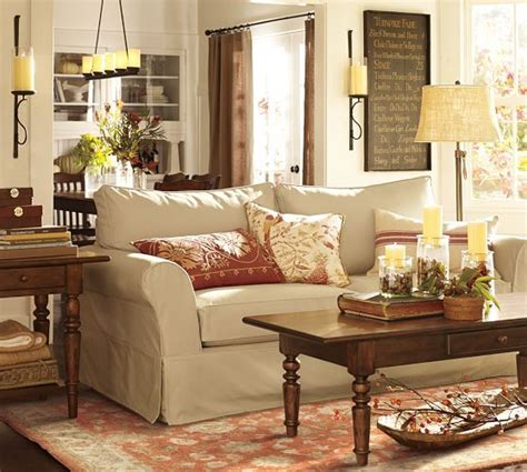 Pottery Barn Inspired Living Room by Everything About This Photo Warm Wood Tones Rust