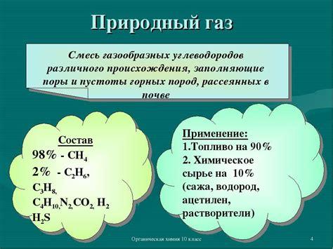 Химический состав природного и попутного газа