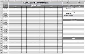 daily task planner template business templates With excel template for daily tasks