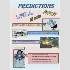 English Worksheet Will Predictions Poster