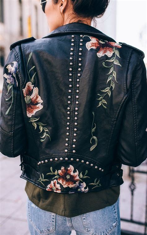 Embroidered Leather Jacket | Wish list | Pinterest | Embroidered leather jacket Leather jackets ...