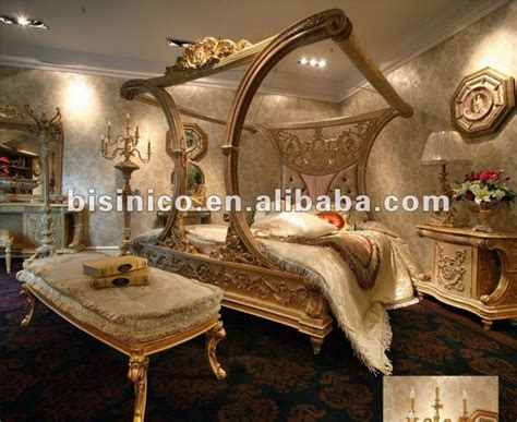 luxury european style canopy bedroom furniture set