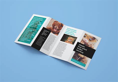 Brochure Mockup Template Free by Free Accordion 4 Fold Brochure Leaflet Mockup Psd