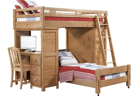 double bunk bed with desk creekside taffy twin twin student loft bed w desk with