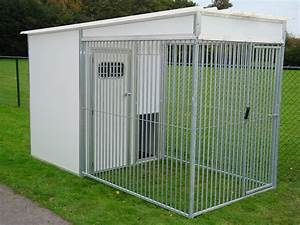 Thermal insulated kennels single unit and block units for Insulated dog kennels and runs