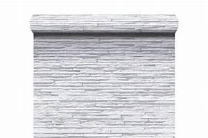 Papier Peint Pierre Blanche : papier peint lamelles blanche gris e en strates papiers ~ Dailycaller-alerts.com Idées de Décoration