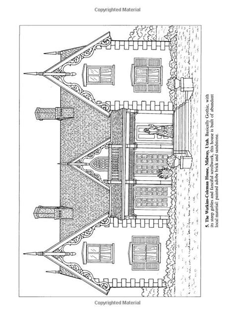 victorian houses coloring pages   print