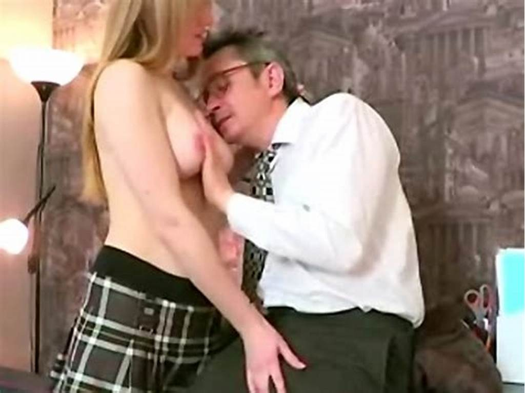 #Young #Redhead #Student #Seduces #Her #Old #College #Teacher #And