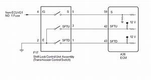 Toyota Ch-r Service Manual - Transmission Control Switch Circuit