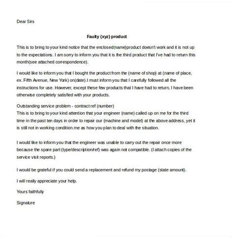 customer complaint letter template   sample