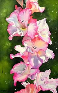 Gladiolus, watercolor, size 19 x 31 cm, Canson Fontenay ...