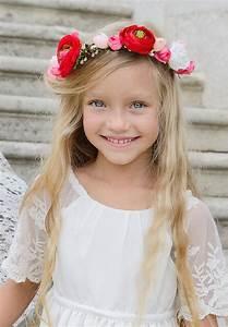 Couronne De Fleurs Mariage Petite Fille : couronne de fleurs cheveux enfant mariage et bapt me ~ Dallasstarsshop.com Idées de Décoration