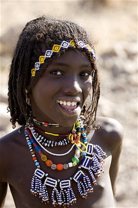 Girl Tribe Afar Tribe Girl With Sharpened Teeth Assaita Afar Region