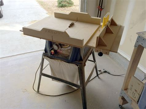 table  top sled  rip fence woodworking