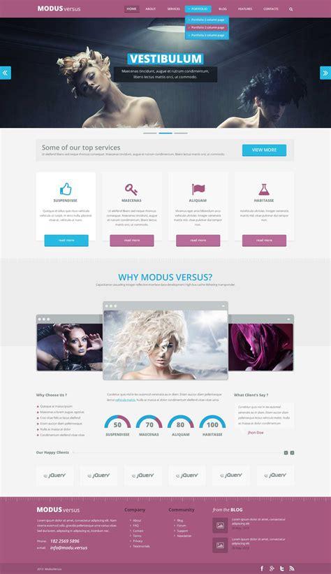 psd template modus  webdesigner depot