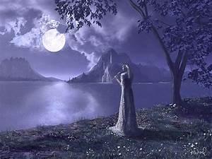 [Fantasy art] Moon Song by hythshade at Epilogue