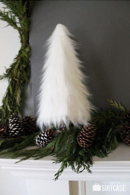 white furry fluffy christmas trees best 25 fur tree ideas on white