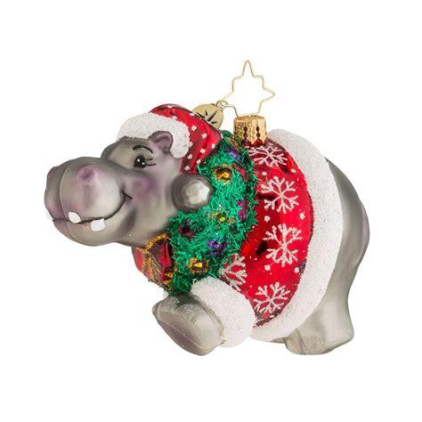 christopher radko ornaments  radko hippo holidaze