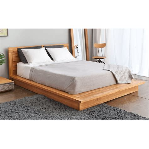 Wooden Bed Platform by Pch Series Solid Teak Wood Platform Bed