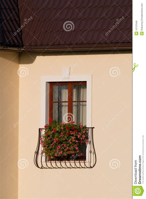 french balcony stock image image  apartment beauty