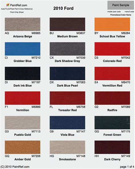 paint chips 2010 ford f150