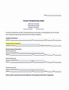 18  Tenant Information Form Templates In Pdf