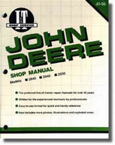 John Deere 2840 2940 2950 Tractor Workshop Manual   Jd