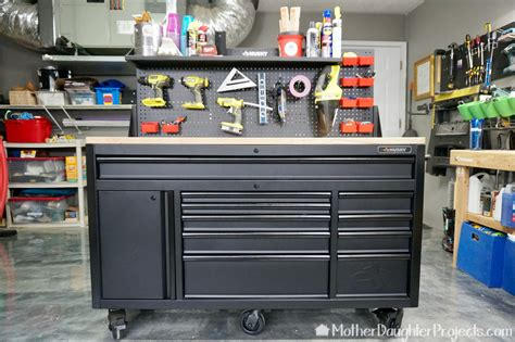 husky mobile tool chest  pegboard mother daughter