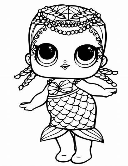 Lol Coloring Surprise Doll Dolls Mermaid Unicorn