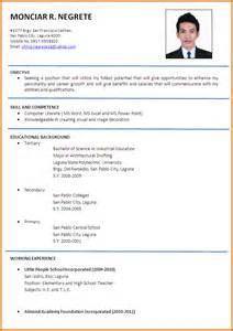 curriculum vitae format india pdf map sle resume for teachers applicant bestsellerbookdb