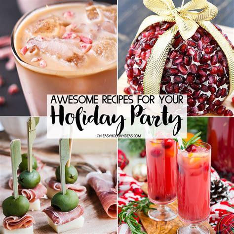 holiday recipes for christmas party awesome recipes easy ideas