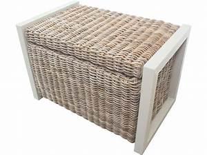 Coffre En Rotin : banc coffre en rotin tress malacca coloris gris vente de 40 de remise conforama ~ Teatrodelosmanantiales.com Idées de Décoration