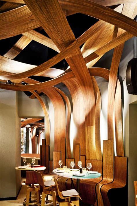 wood design top 5 restaurant interior designs with wooden walls insertions