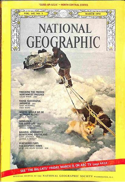 Geographic National 1974 March Magazine Seller