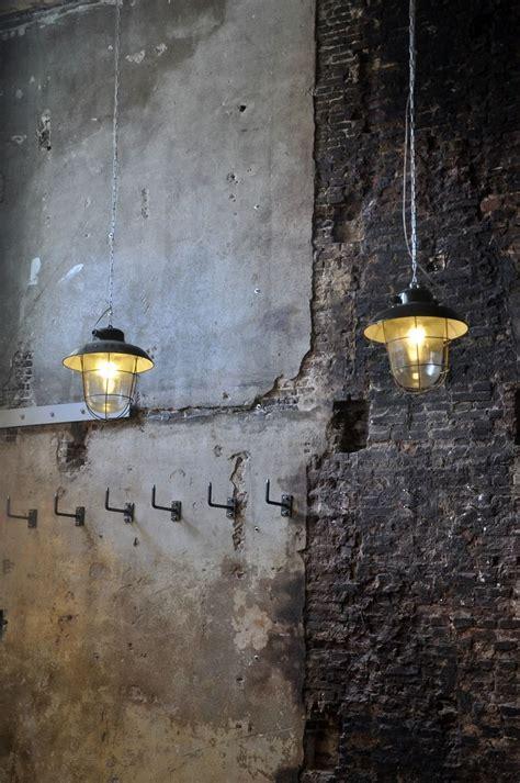 reclaimed industrial look and feel lighting against
