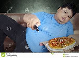 Man Eats Pizza While Watching Tv 1 Stock Photo - Image ...