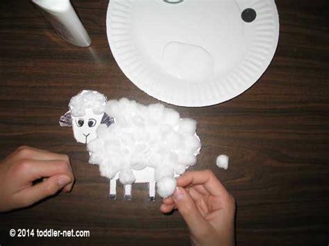 cotton ball sheep craft  kids