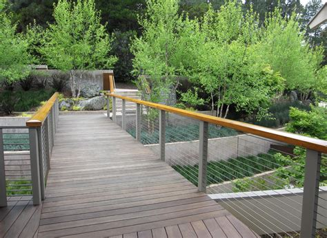 cool cable railing look san francisco contemporary
