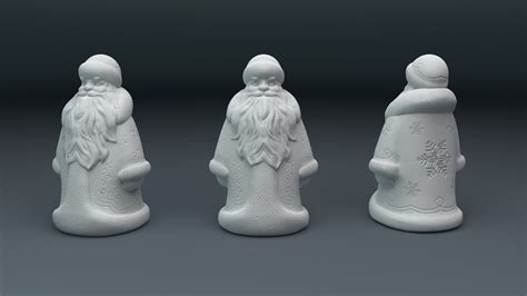 santa claus  model  printable stl cgtradercom