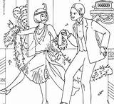Coloring 1920s Pages Getcolorings Printable sketch template