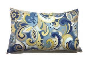 decorative pillow cover paisley design lumbar cadet blue
