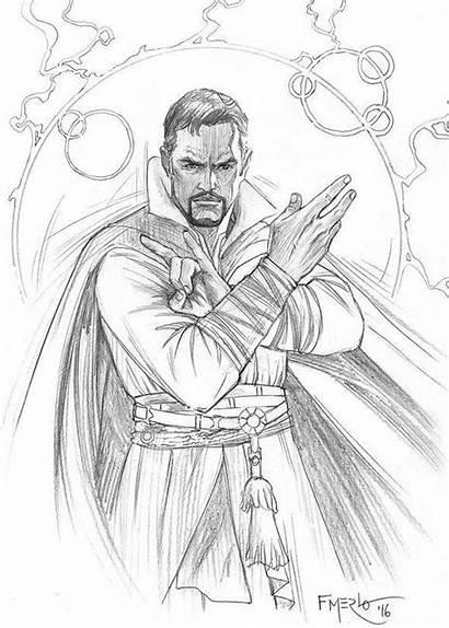 Coloring Strange Doctor Dr Marvel Superhero Printable