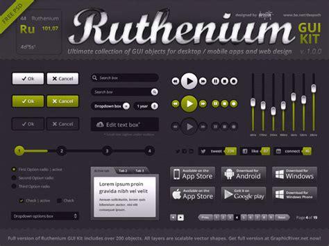 web ui elements mobile gui design kits